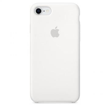 Originální silikonové pouzdro Apple iPhone 8 / 7 - Bílé