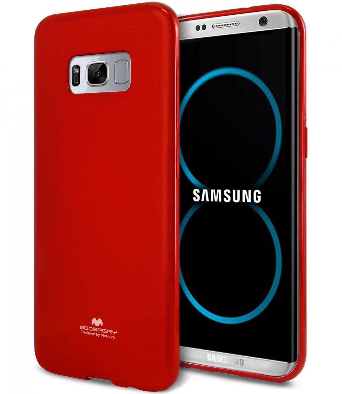 Silikonový barevný obal / kryt Goospery Mercury pro Samsung Galaxy S8 - Jelly Case - Vínový