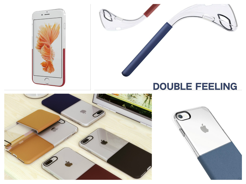 Elegantní kryty DOUBLE pro mobily Apple iPhone - pro iPhone 6s/6 Plus (černý)