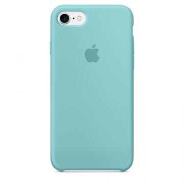 Originální silikonové pouzdro Apple iPhone 8 / 7  - Jezerně modré