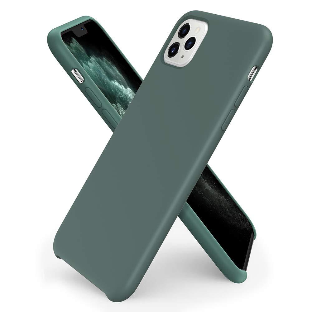 Pouzdro iMore Silicone Case iPhone 11 Pro Max - Borovicově zelený