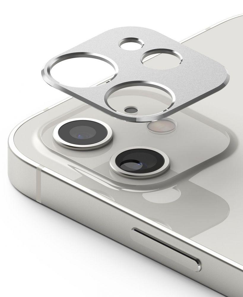 Ringke Camera Styling iPhone 12 mini - Stříbrná