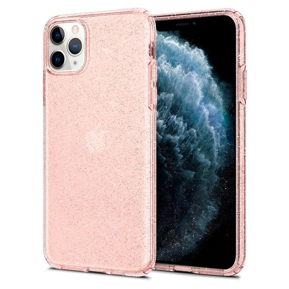 Pouzdro Spigen Liquid Crystal Glitter Apple iPhone 11 Pro Max - Rose Quartz