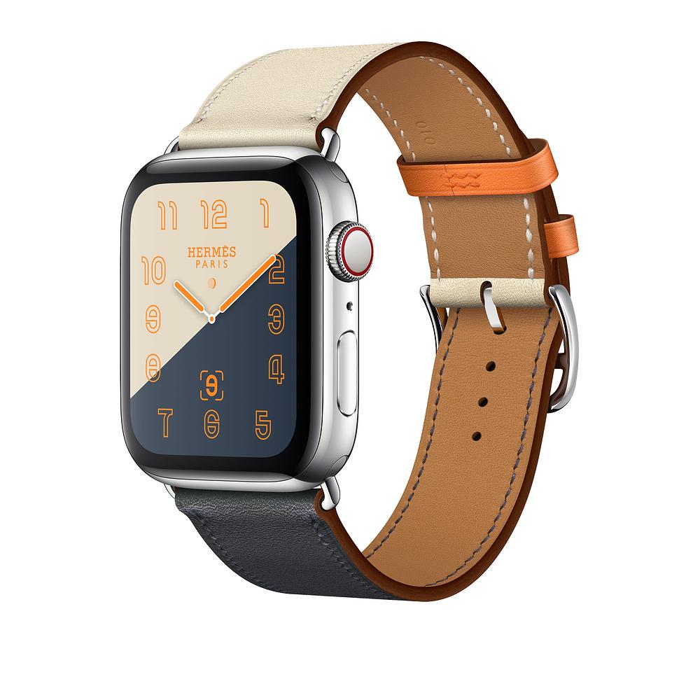 Řemínek Single Tour pro Apple Watch Series 3/2/1 (38mm) - Indigo/Křídový/Oranžový
