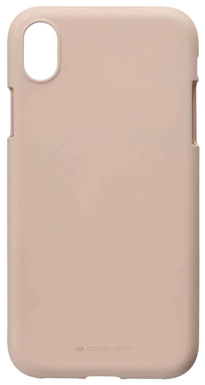 Pouzdro Mercury Soft Feeling iPhone XR - Pískově růžový
