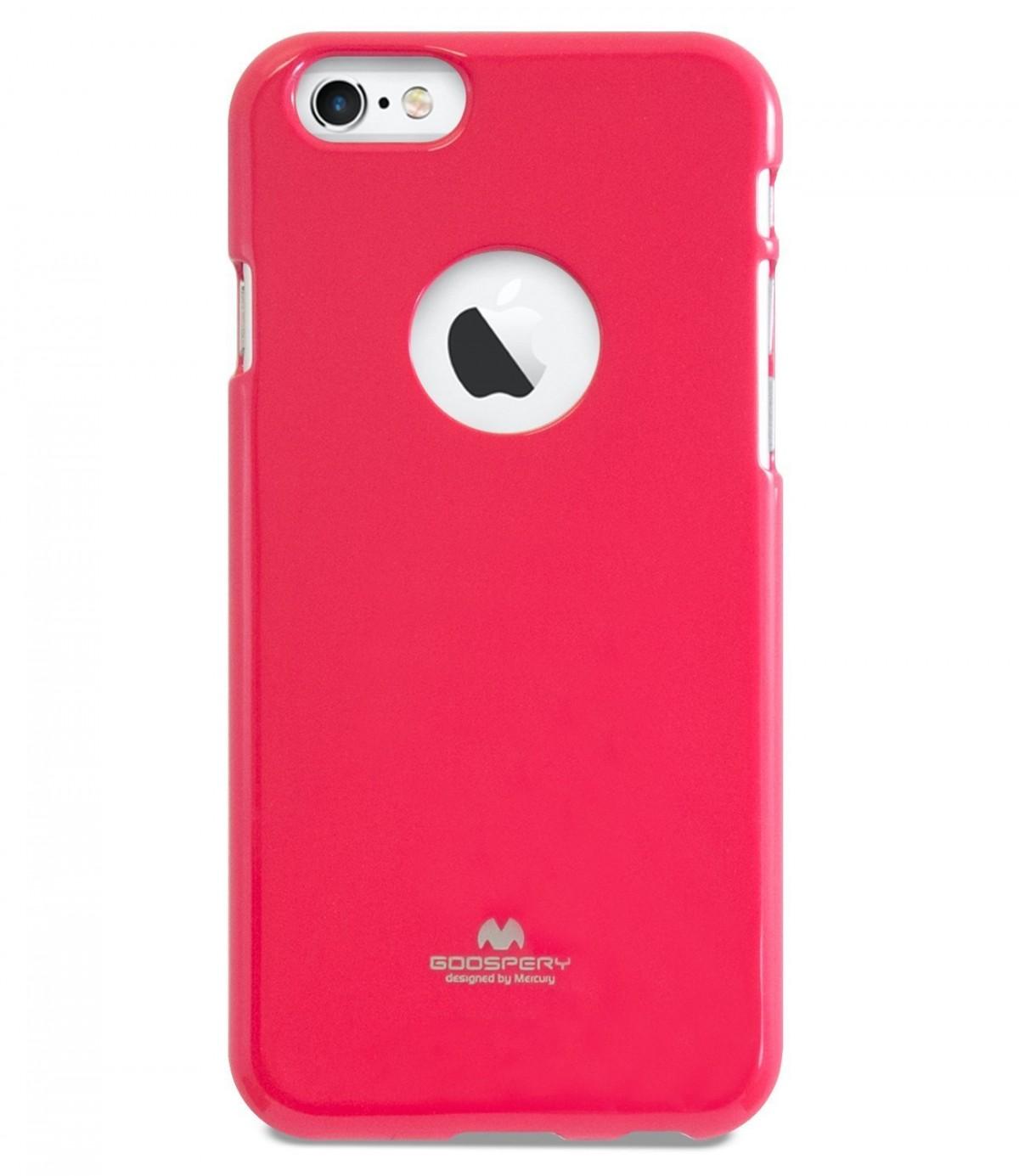 Tenké silikonové obaly / kryty Goospery Mercury pro Apple iPhone 6s/6 - Tmavě růžový / Hot Pink