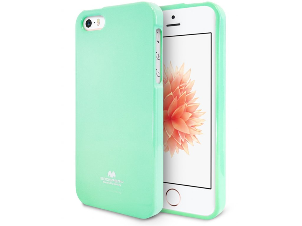 Pouzdro Mercury Apple iPhone 5 / 5S / SE Jelly Case Mint
