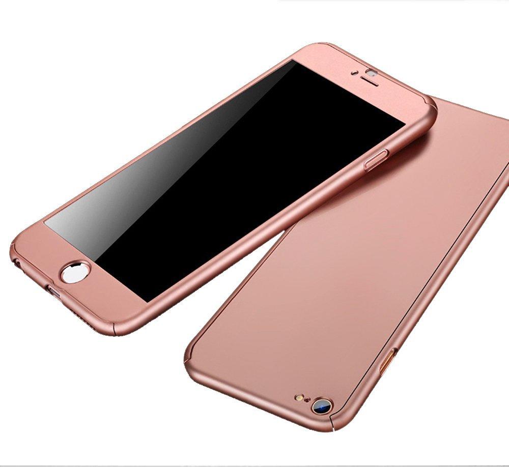 Kryt Defender 360° + Tvrzené sklo na displej Apple iPhone 6s/6 - Rose Gold