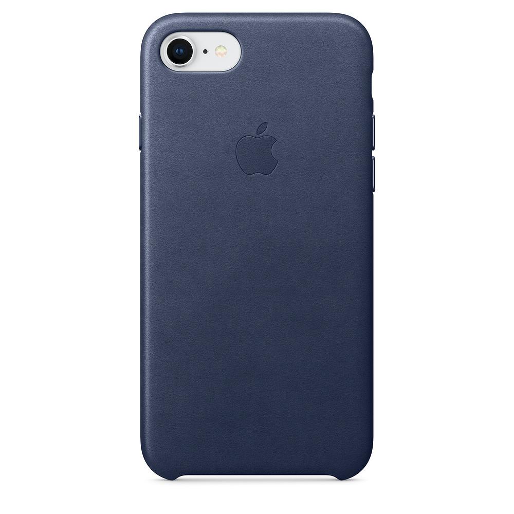 Pouzdro Apple iPhone 7/8 Leather Case Midnight modré