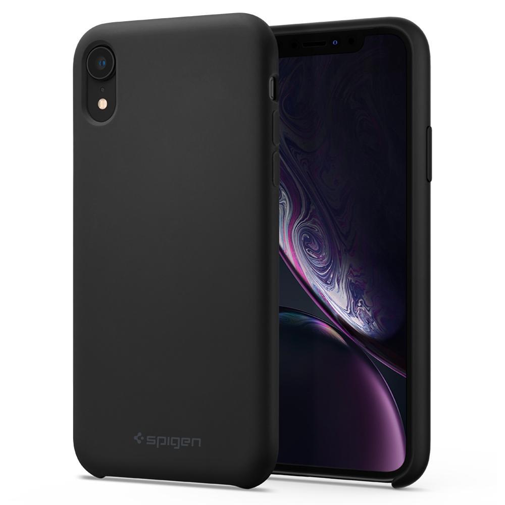 Pouzdro Spigen Silicone Fit kryt Apple iPhone XR černé