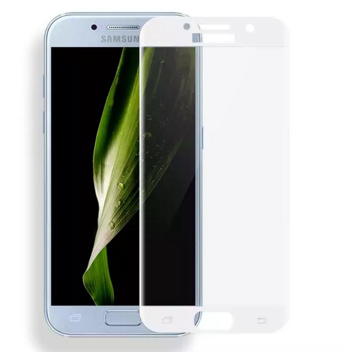 3D tvrzené sklo 9H na celý displej - Galaxy A3 (2017 - Bílé (white)
