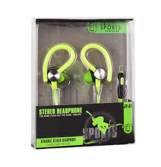 Sportovní sluchátka Tel1 SPORT JY-A1 - Zelené