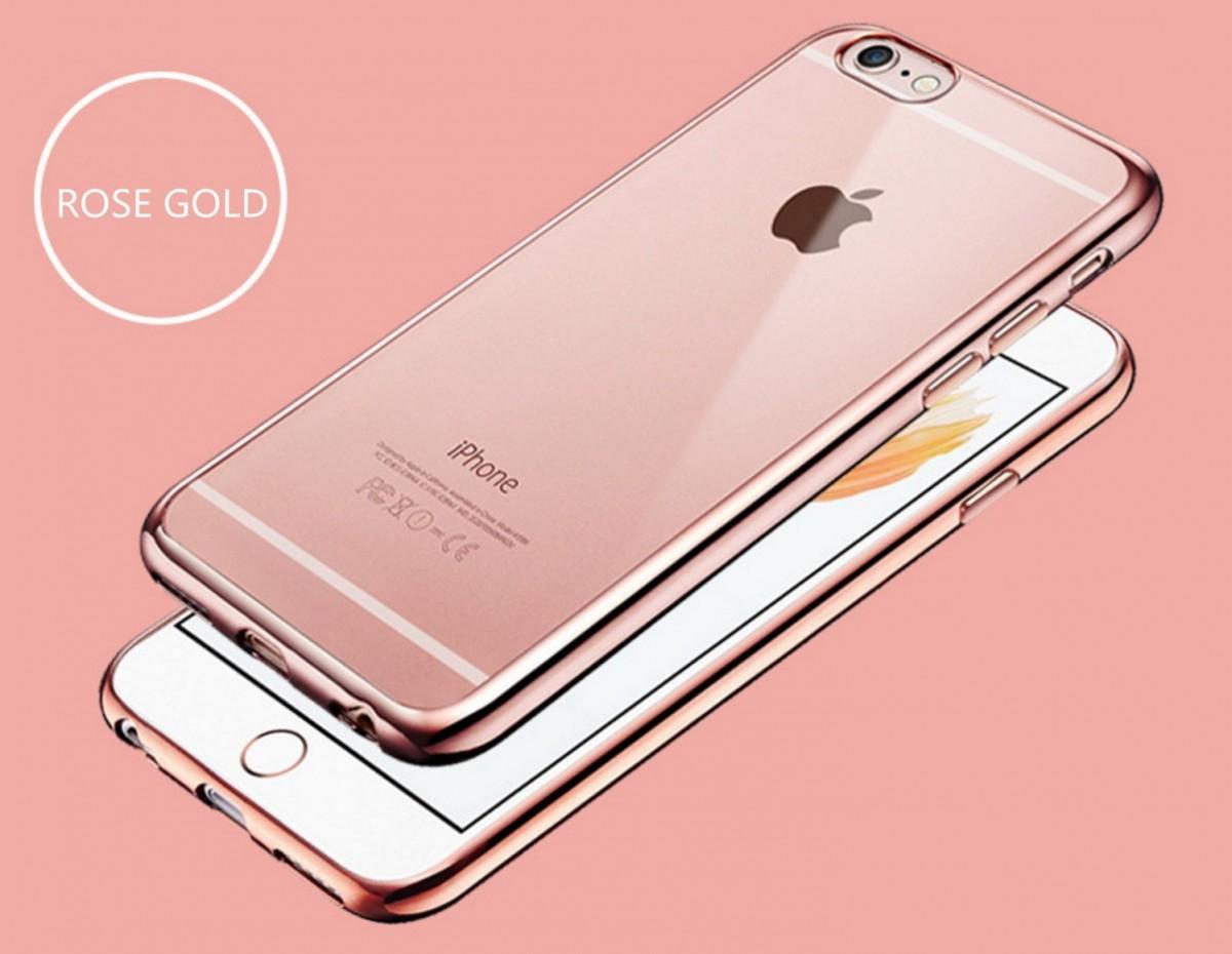 Elegantní obal / kryt RING pro iPhone 6s Plus / 6 Plus - Růžově zlatý (rose gold)