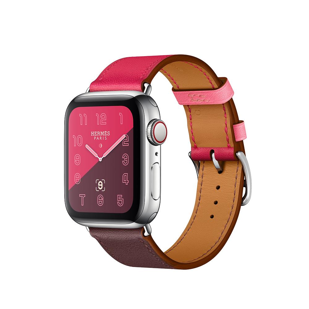 Řemínek Single Tour pro Apple Watch Series 3/2/1 (38mm) - Bordó/Růžový