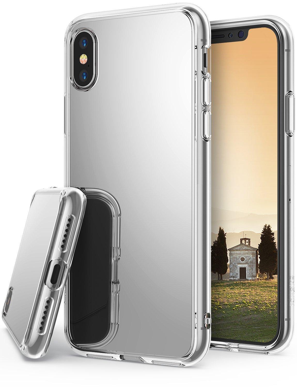 Pouzdro Telekryty Zrcadlové mirror iPhone X stříbrné