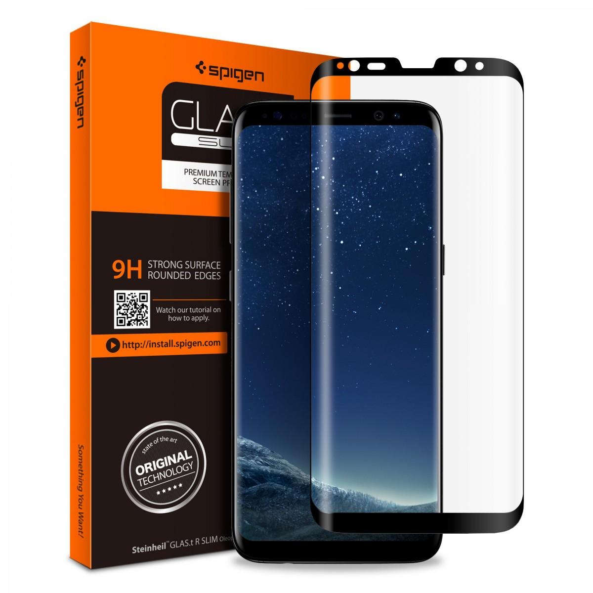 Ochranné sklo Spigen GLAS.t R SLIM Case-Friendly pro Samsung Galaxy S8 Plus (S8+)