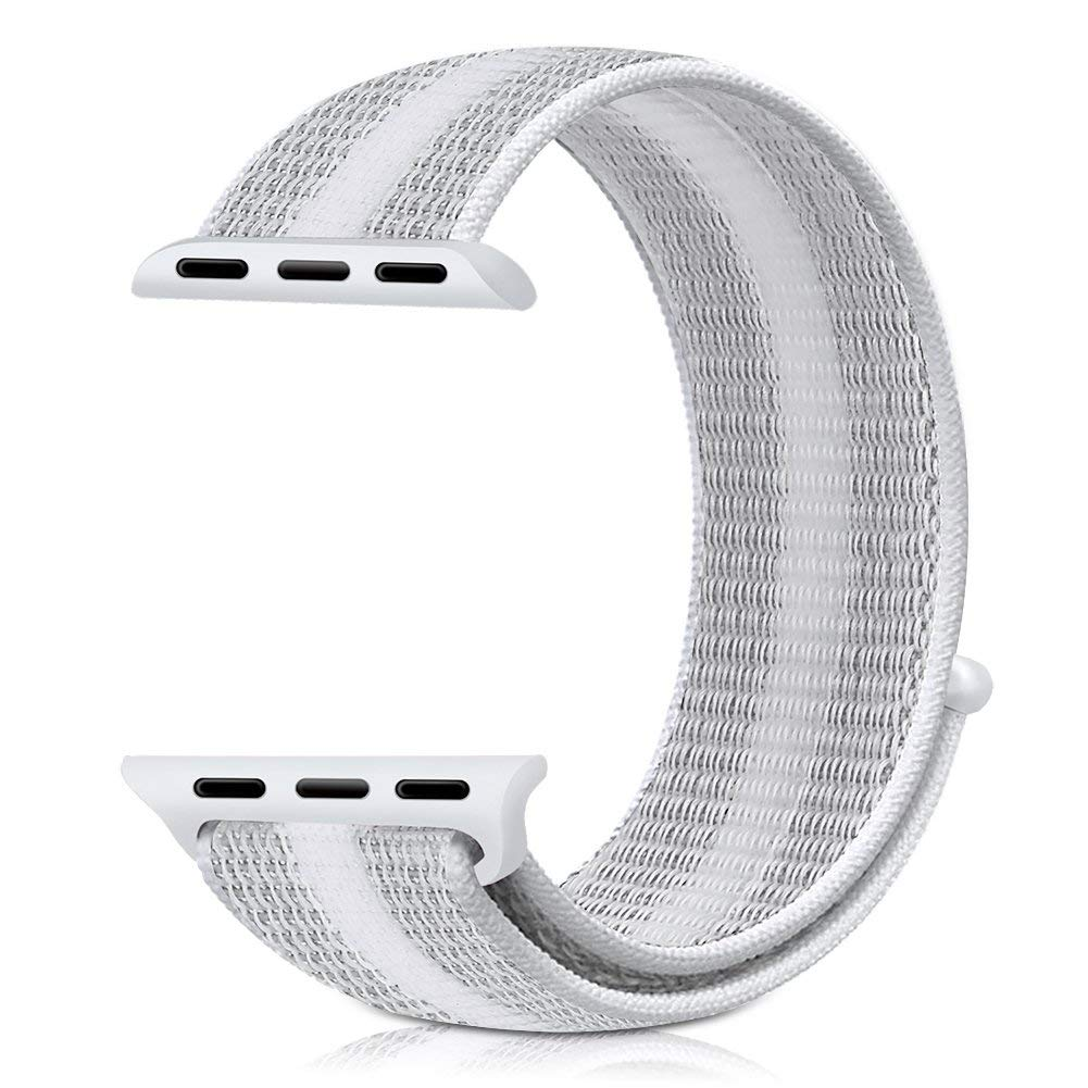 Řemínek NYLON STRIPES pro Apple Watch Series 4 (40mm) - Bílý