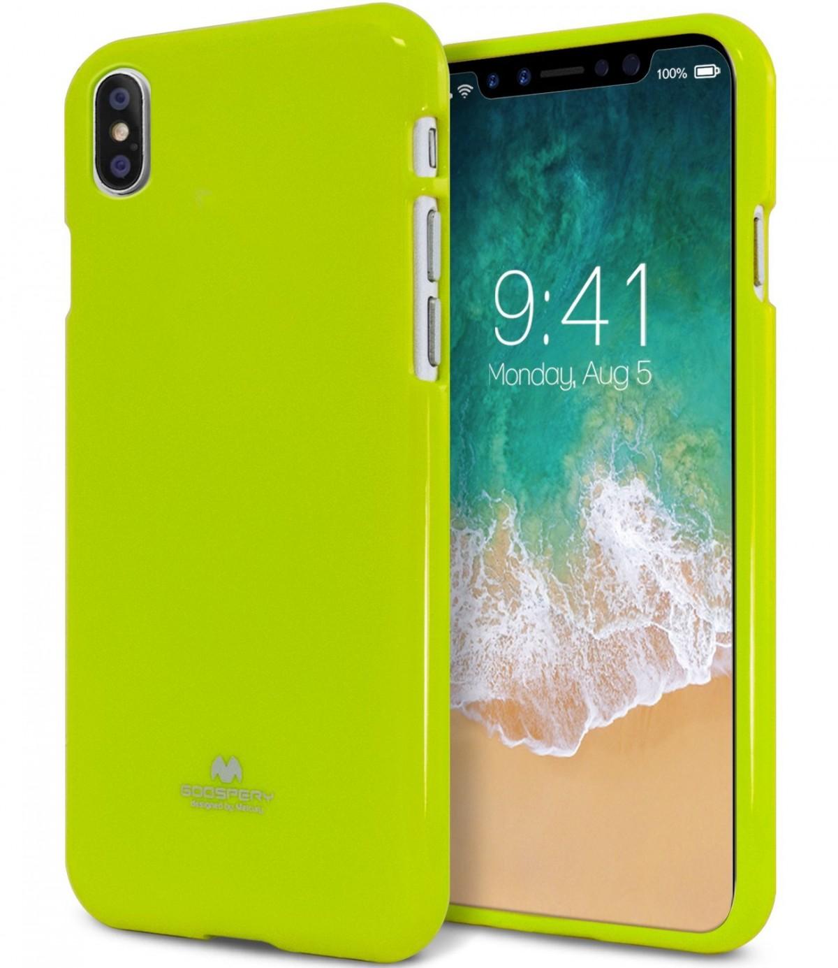 Pouzdro Goospery Mercury Jelly na Apple iPhone Xs/X - Limetkový