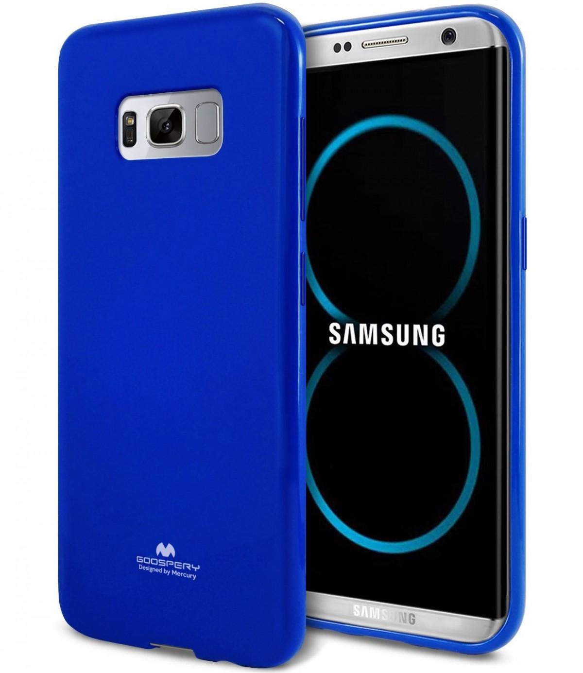 Silikonové barevné kryty Goospery Mercury pro Samsung Galaxy S8+ - Jelly Case - Modrý