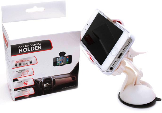 Univerzální držák mobilu InCars BASIC do auta - Bílý