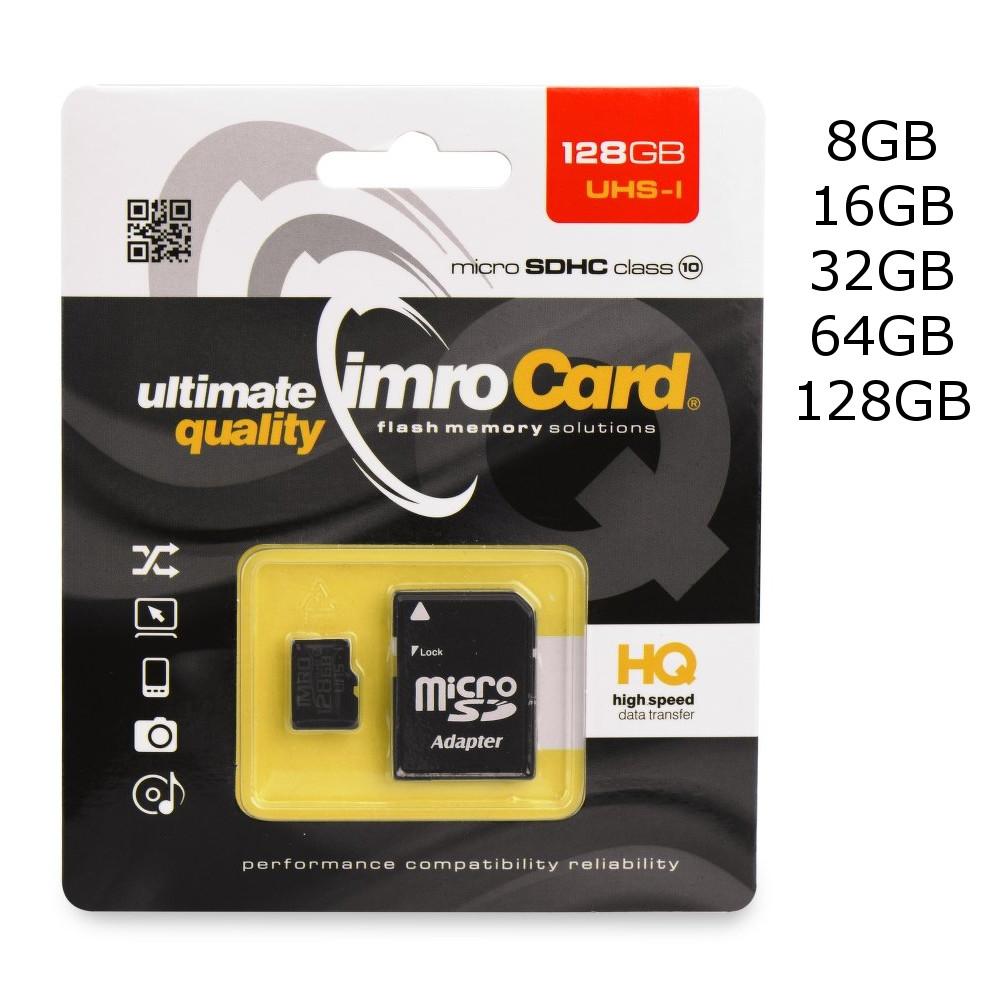 Paměťová karta imro Card UHS I Class 10 + adaptér