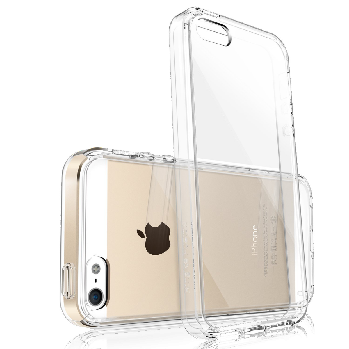 Průhledný čirý obal / kryt Ultra Slim Hybrid pro iPhone SE / 5s / 5