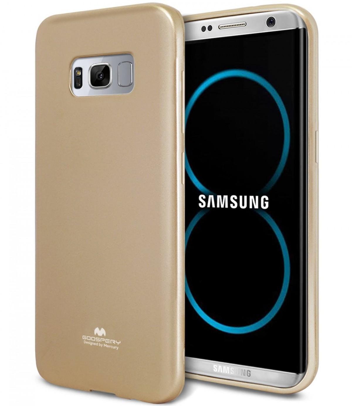 Silikonový obal / kryt / pouzdro Goospery Mercury pro Samsung Galaxy S8+ (S8 Plus) - Jelly Case - Zlatý
