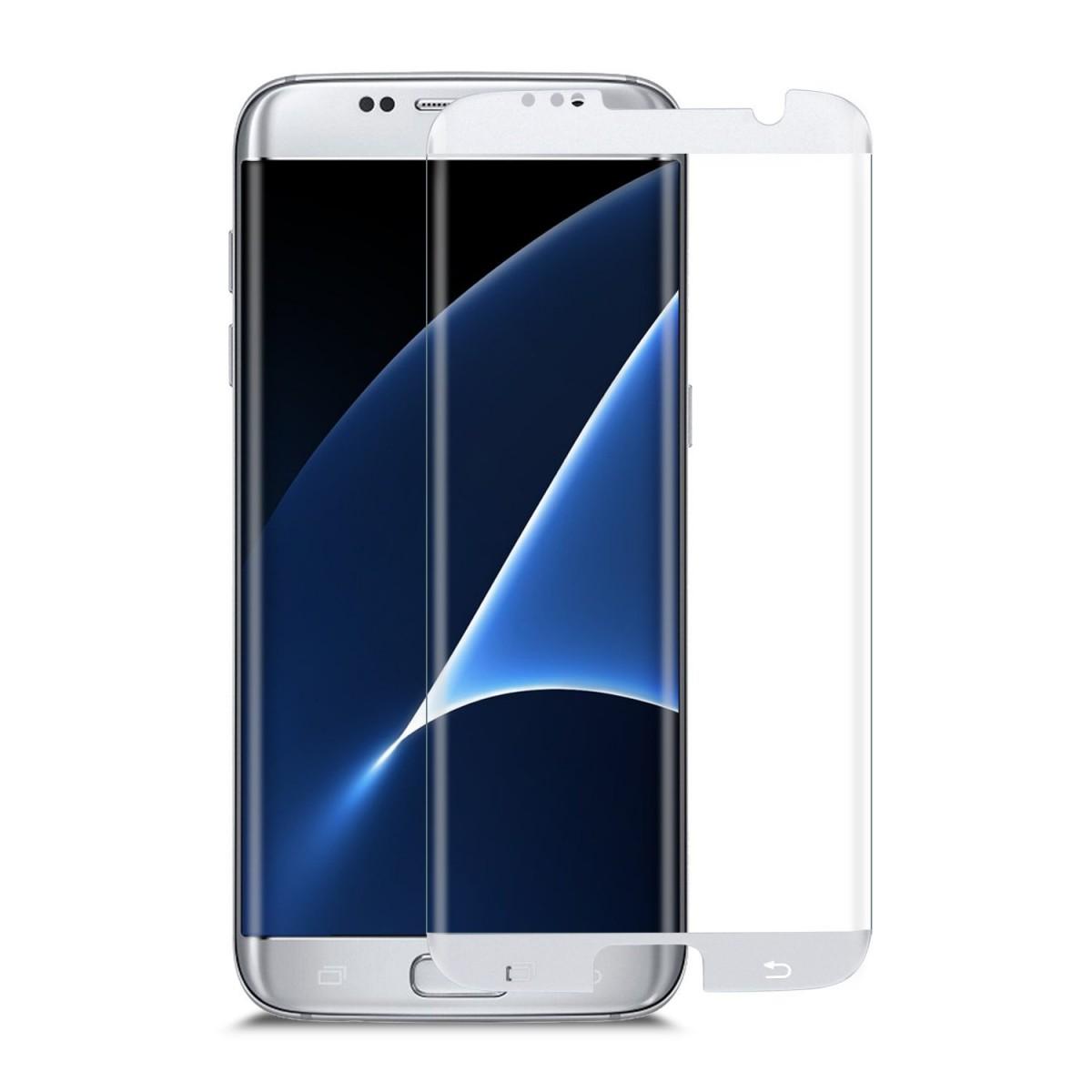 3D Ochranné sklo CASE FRIENDLY na celý displej pro Galaxy S7 Edge - Stříbrné