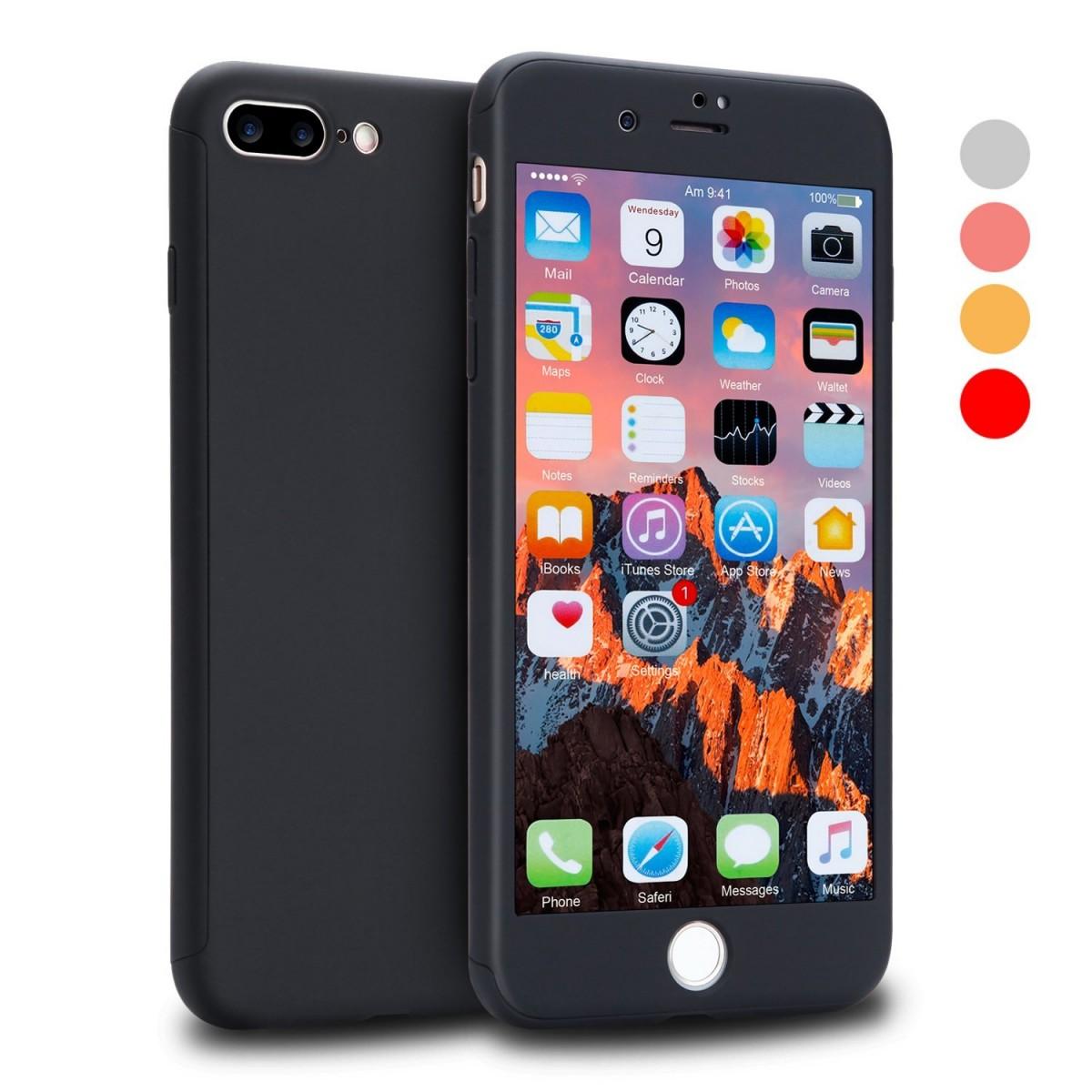 Pouzdro Beweare 360 oboustranné iPhone 7 Plus   iPhone 8 Plus - černé 3f47dd26eef