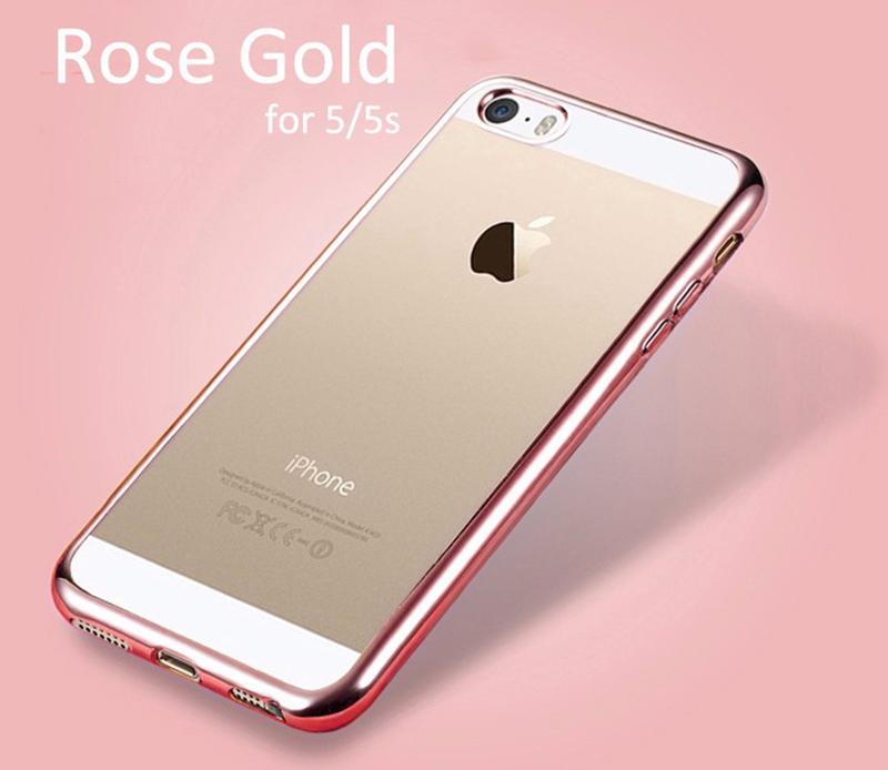 Elegantní obal / kryt RING pro iPhone SE / 5s / 5 - Růžově zlatý (rose gold)