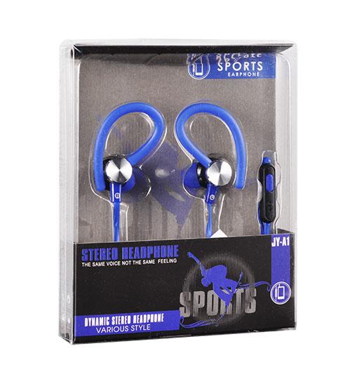Sportovní sluchátka Tel1 SPORT JY-A1 - Modré