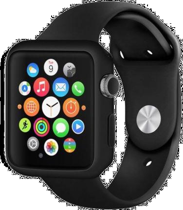 Černý kryt Shadow - Apple Watch 38mm Series 1, 2, 3