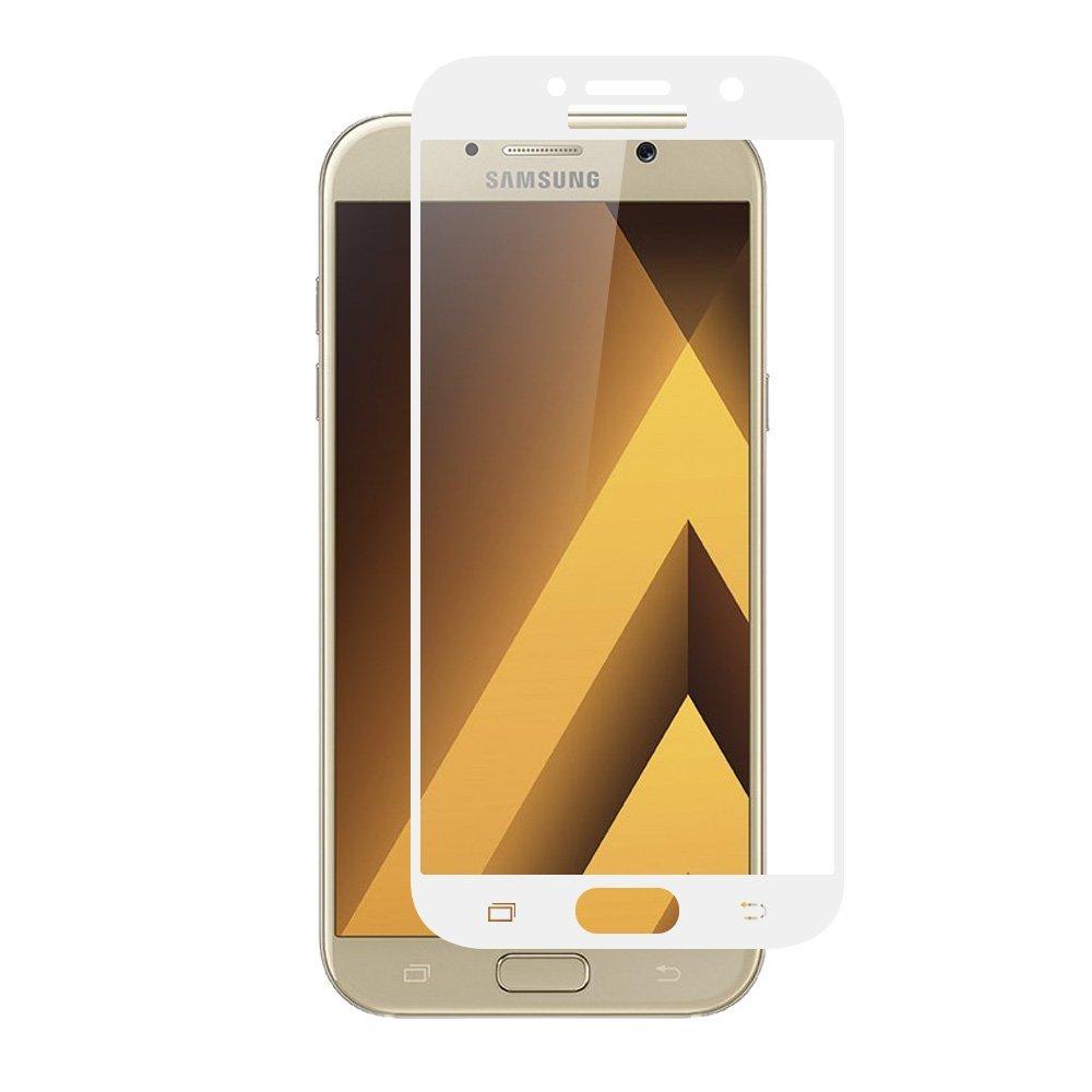Tvrzené sklo FullCover pro ochranu displeje Samsung Galaxy A3 (2017) - Bílé