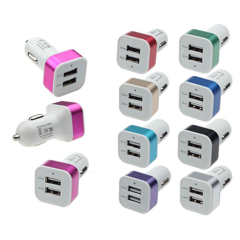 USB nabíječka iBASIC do auta - 2x USB (5V/1A, 5V/2.1A)