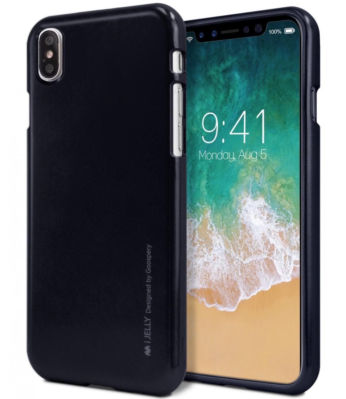 Pouzdro Goospery i-Jelly Metal iPhone XS MAX - Černé