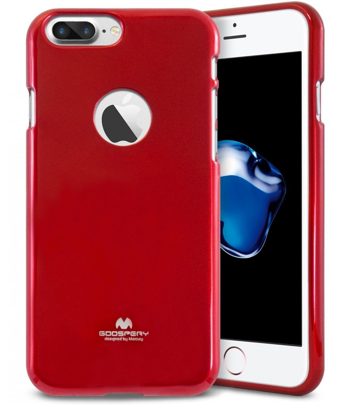 Silikonový obal / kryt Goospery Mercury pro Apple iPhone 8 Plus - Vínově červený / Vine Red