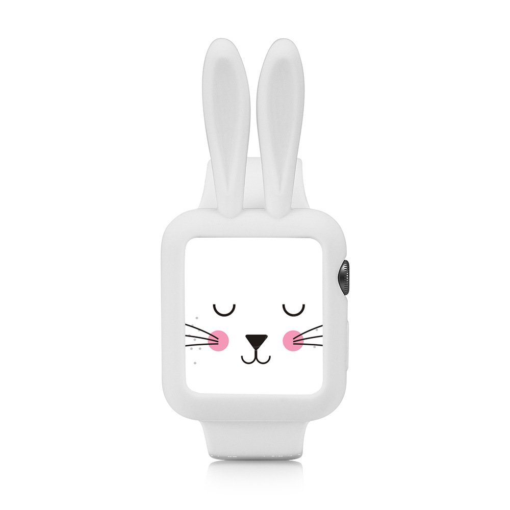 Obal Cartoon Rabbit na Apple Watch 42mm Series 1, 2, 3 - Bílý