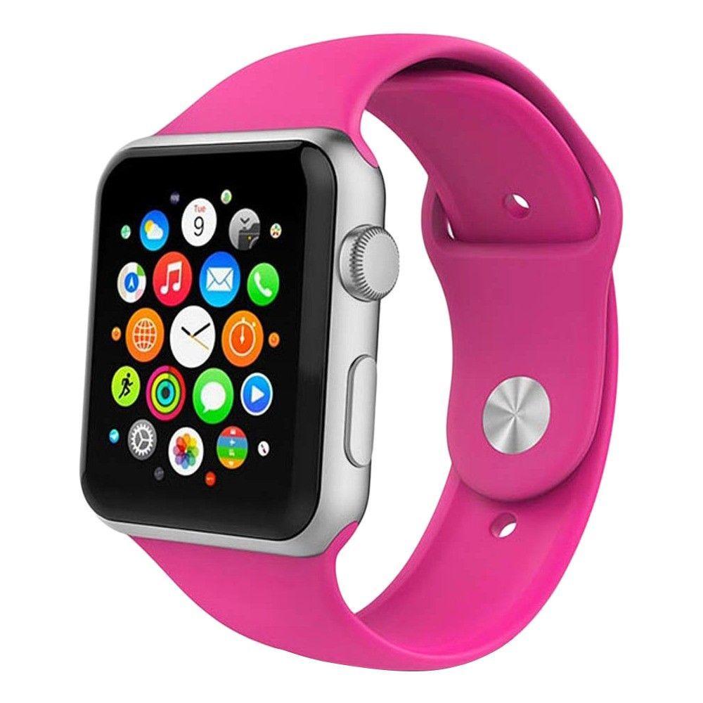 Řemínek SmoothBand pro Apple Watch Series 3/2/1 42mm - Tmavě růžový