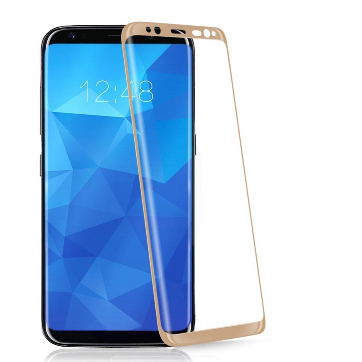 3D Tvrzené sklo 9H na celý displej pro Galaxy S8 Plus (S8+) - Zlaté (gold)