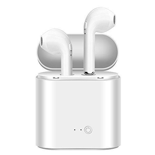 Bezdrátová bluetooth sluchátka AirPods i7S TWS + nabíjecí krabička - Bílá