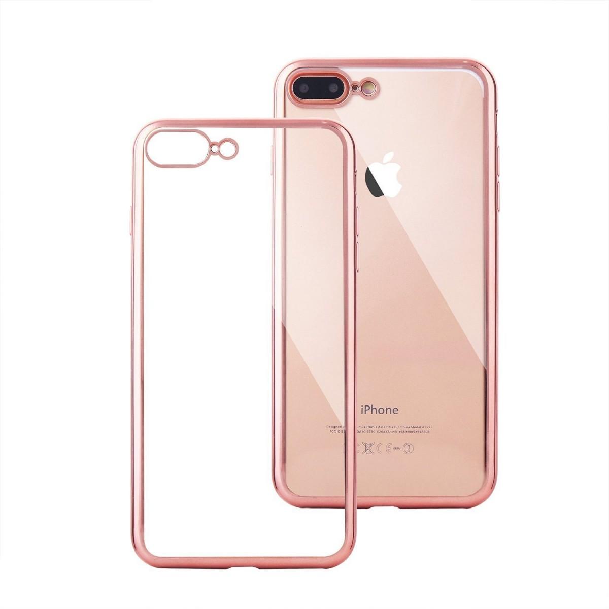 Elegantní obal / kryt RING pro iPhone 7 Plus (rose gold)