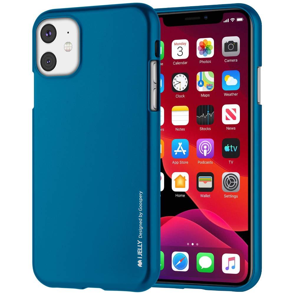 Pouzdro Mercury i-Jelly Metal iPhone 11 - Modrý
