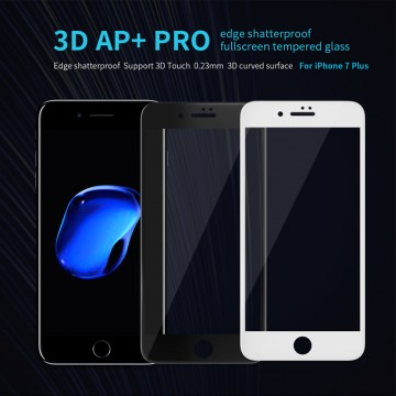 Ochranné tvrzené sklo Nillkin 3D AP+ PRO na Apple iPhone 8 Plus / 7 Plus