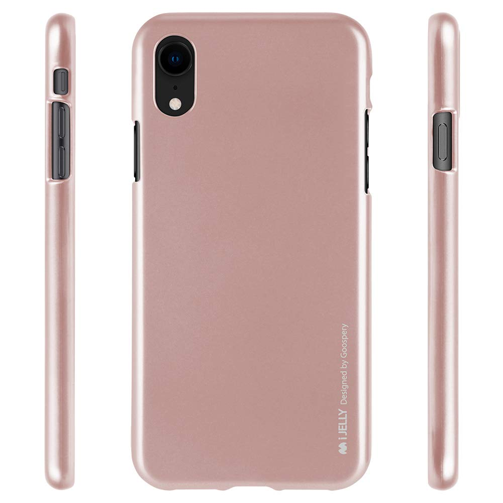 Pouzdro Goospery i-Jelly Metal iPhone XR - Růžově zlatý