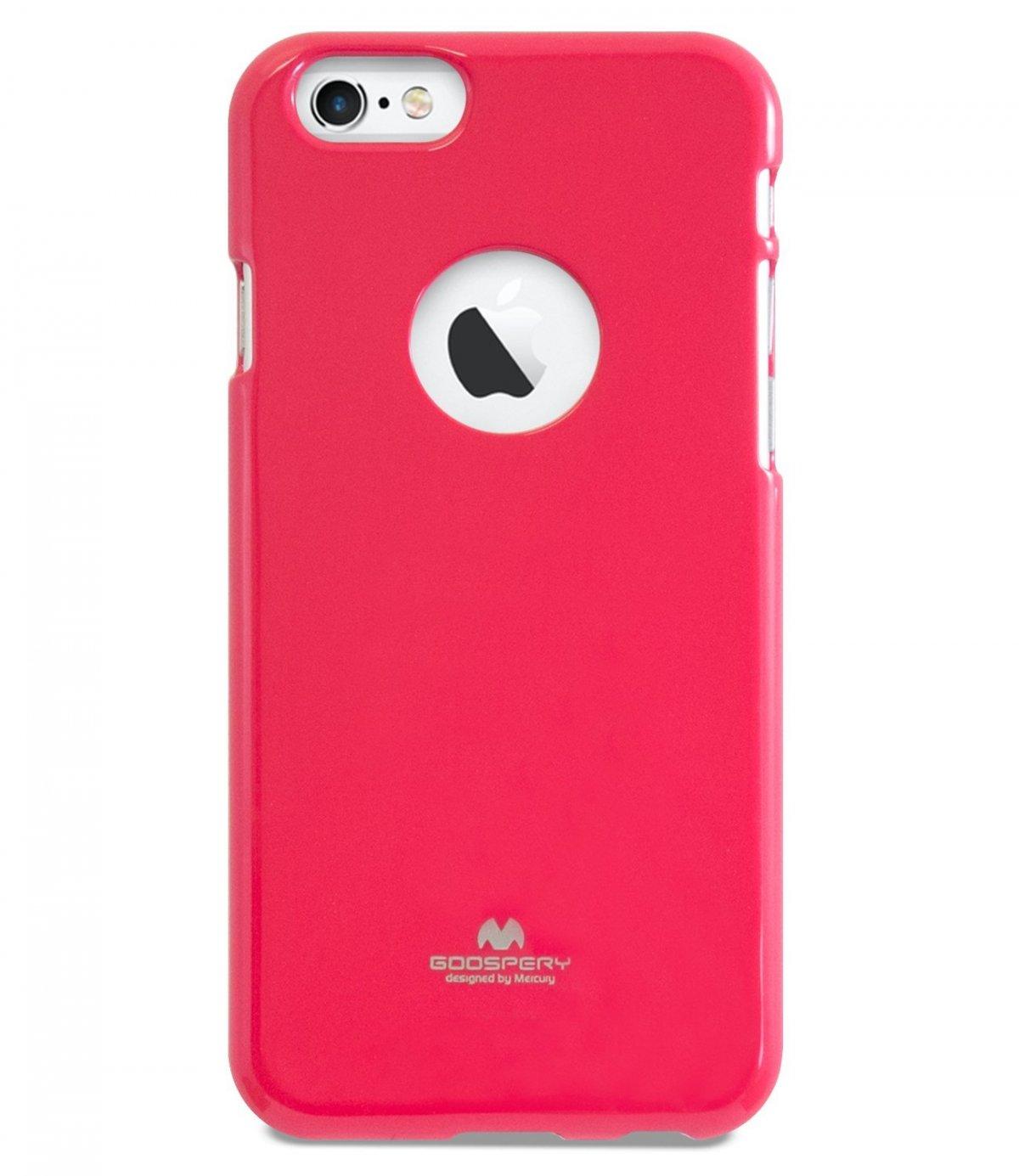 Silikonový obal / kryt Jelly Case Goospery Mercury Apple iPhone 6s Plus / 6 Plus - Tmavě růžový