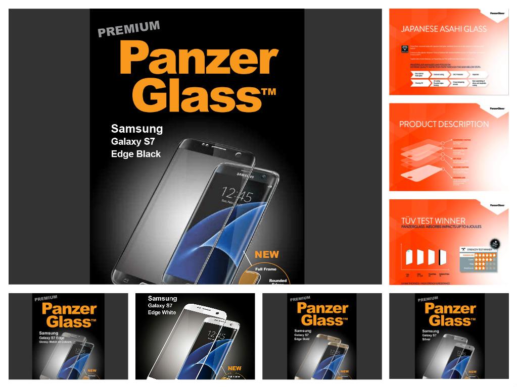 Ochranné sklo PanzerGlass PREMIUM Full Frame na Samsung Galaxy S7 Edge