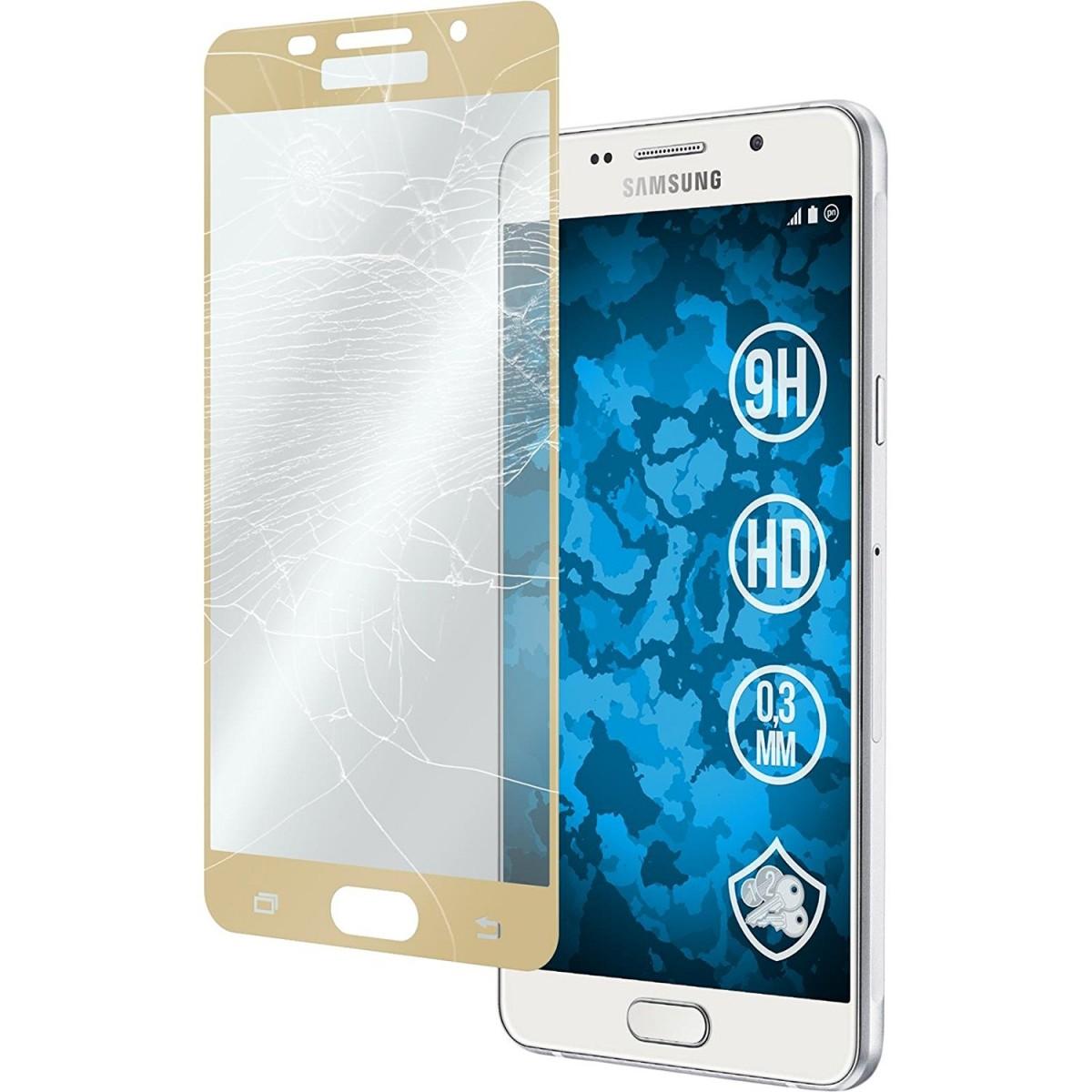 Tvrzené ochranné sklo FullCover na celý displej pro Samsung Galaxy A3 (2016) A310 - Zlaté