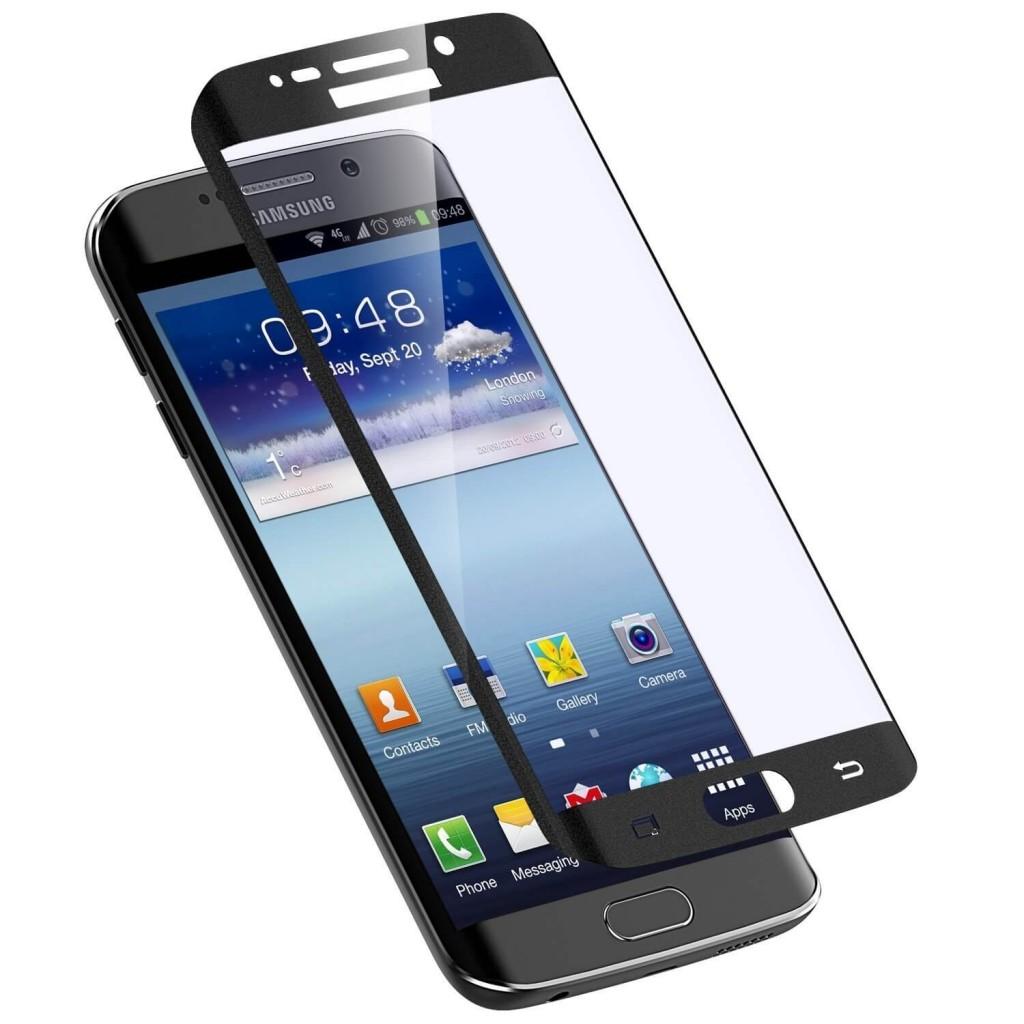 eSTUFF ochranné sklo TitanShield 3D pro Samsung Galaxy S6 Edge+ černé