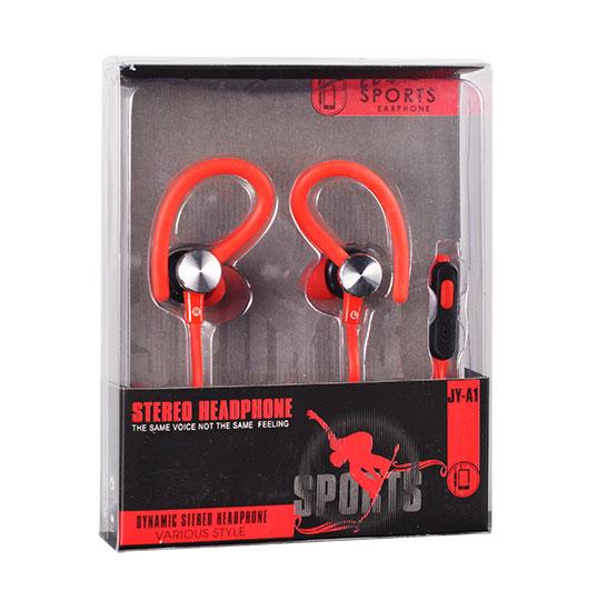 Sportovní sluchátka Tel1 SPORT JY-A1 - Červené