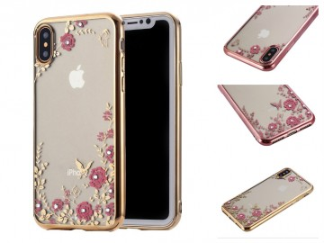 Obal / kryt Flower Garden pro Apple iPhone X